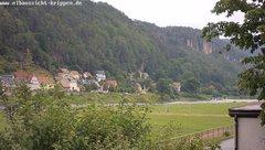 view from Webcam in Bad Schandau Sächsische Schweiz on 2019-06-16