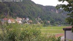 view from Webcam in Bad Schandau Sächsische Schweiz on 2019-06-20