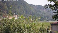 view from Webcam in Bad Schandau Sächsische Schweiz on 2019-07-29