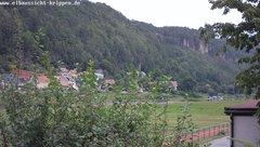 view from Webcam in Bad Schandau Sächsische Schweiz on 2019-08-12