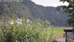 view from Webcam in Bad Schandau Sächsische Schweiz on 2019-08-16