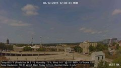 view from University Place Apartments - West Weather on 2019-08-12