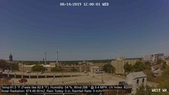 view from University Place Apartments - West Weather on 2019-08-14