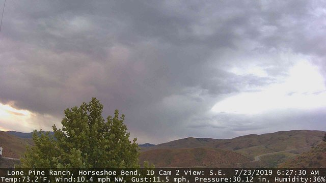 time-lapse frame, Horseshoe Bend, Idaho CAM2 webcam