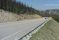 view from 4 - Highway 50 Road Conditions on 2018-08-20