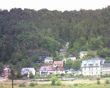 view from Webcam in Bad Schandau, Krippen & Postelwitz on 2018-08-10
