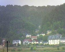 view from Webcam in Bad Schandau, Krippen & Postelwitz on 2018-08-11