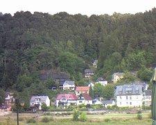 view from Webcam in Bad Schandau, Krippen & Postelwitz on 2018-08-14