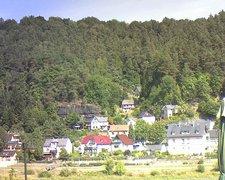 view from Webcam in Bad Schandau, Krippen & Postelwitz on 2018-08-17