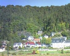 view from Webcam in Bad Schandau, Krippen & Postelwitz on 2018-10-05