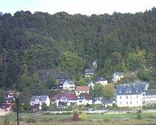 view from Webcam in Bad Schandau, Krippen & Postelwitz on 2018-10-06