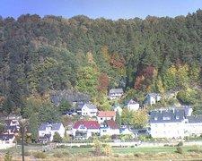 view from Webcam in Bad Schandau, Krippen & Postelwitz on 2018-10-16