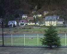 view from Webcam in Bad Schandau, Krippen & Postelwitz on 2018-12-09
