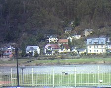 view from Webcam in Bad Schandau, Krippen & Postelwitz on 2019-02-11