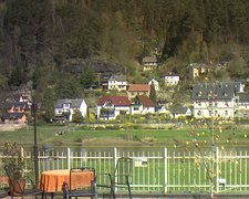 view from Webcam in Bad Schandau, Krippen & Postelwitz on 2019-04-10