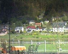 view from Webcam in Bad Schandau, Krippen & Postelwitz on 2019-04-18