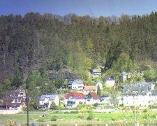 view from Webcam in Bad Schandau, Krippen & Postelwitz on 2019-04-21