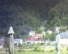 view from Webcam in Bad Schandau, Krippen & Postelwitz on 2019-08-16