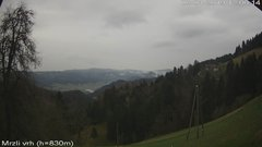 view from VREME ŽIRI-cam-3-VZHOD-Mrzli vrh on 2019-04-08