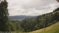 view from VREME ŽIRI-cam-3-VZHOD-Mrzli vrh on 2019-07-13