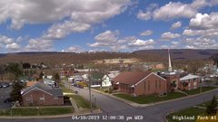 view from Highland Park Hose Co. #1 on 2019-04-10