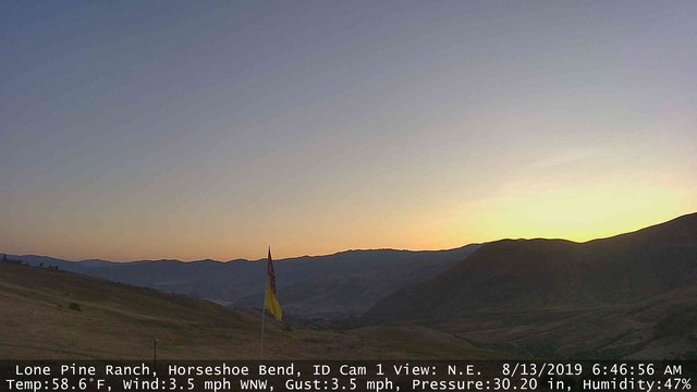 time-lapse frame, Horseshoe Bend, Idaho CAM1 webcam