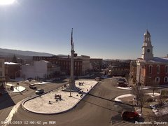 view from 13 East Market Street - Lewistown PA (west) on 2019-01-14