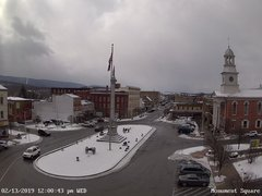 view from 13 East Market Street - Lewistown PA (west) on 2019-02-13