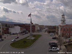 view from 13 East Market Street - Lewistown PA (west) on 2019-04-09