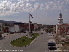view from 13 East Market Street - Lewistown PA (west) on 2019-04-11