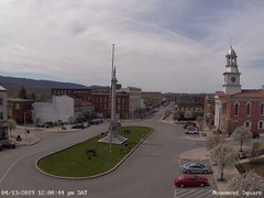 view from 13 East Market Street - Lewistown PA (west) on 2019-04-13
