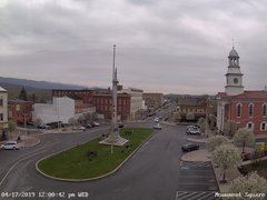 view from 13 East Market Street - Lewistown PA (west) on 2019-04-17