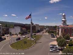 view from 13 East Market Street - Lewistown PA (west) on 2019-07-01