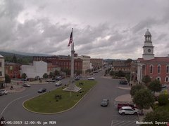 view from 13 East Market Street - Lewistown PA (west) on 2019-07-08