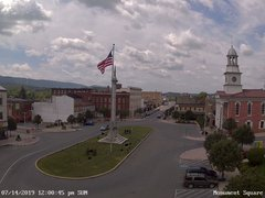 view from 13 East Market Street - Lewistown PA (west) on 2019-07-14