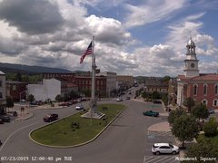 view from 13 East Market Street - Lewistown PA (west) on 2019-07-23