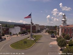 view from 13 East Market Street - Lewistown PA (west) on 2019-07-25