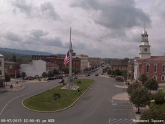 view from 13 East Market Street - Lewistown PA (west) on 2019-08-07