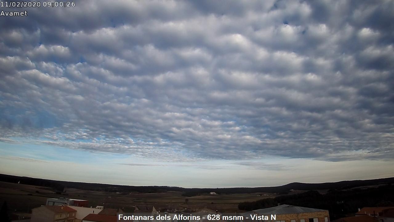 time-lapse frame, Fontanars2 AVAMET webcam
