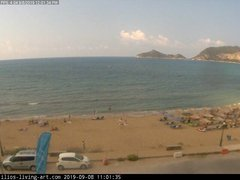view from Agios Georgios NW Corfu Greece on 2019-09-08