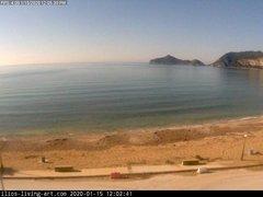 view from Agios Georgios NW Corfu Greece on 2020-01-15