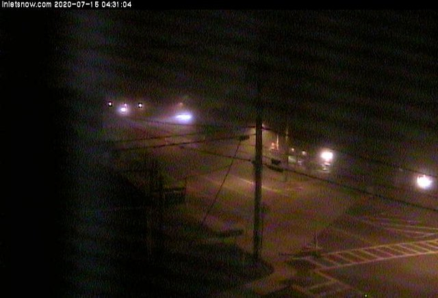 time-lapse frame, Downtown Inlet, NY webcam