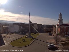 view from 13 East Market Street - Lewistown PA (west) on 2019-12-23