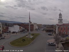 view from 13 East Market Street - Lewistown PA (west) on 2020-01-13