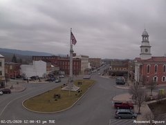 view from 13 East Market Street - Lewistown PA (west) on 2020-02-25