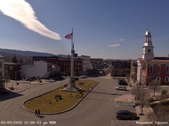 view from 13 East Market Street - Lewistown PA (west) on 2020-03-09
