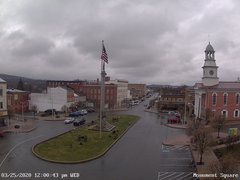 view from 13 East Market Street - Lewistown PA (west) on 2020-03-25