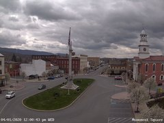 view from 13 East Market Street - Lewistown PA (west) on 2020-04-01