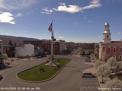 view from 13 East Market Street - Lewistown PA (west) on 2020-04-03