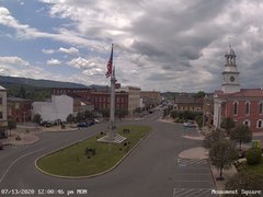 view from 13 East Market Street - Lewistown PA (west) on 2020-07-13